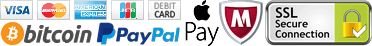 Payment Methods Accepted: Credit Card, PayPal, ApplePay, Bitcoin, Altcoin